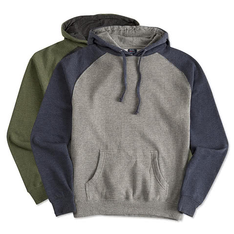 Independent Trading Raglan Hooded Sweatshirt