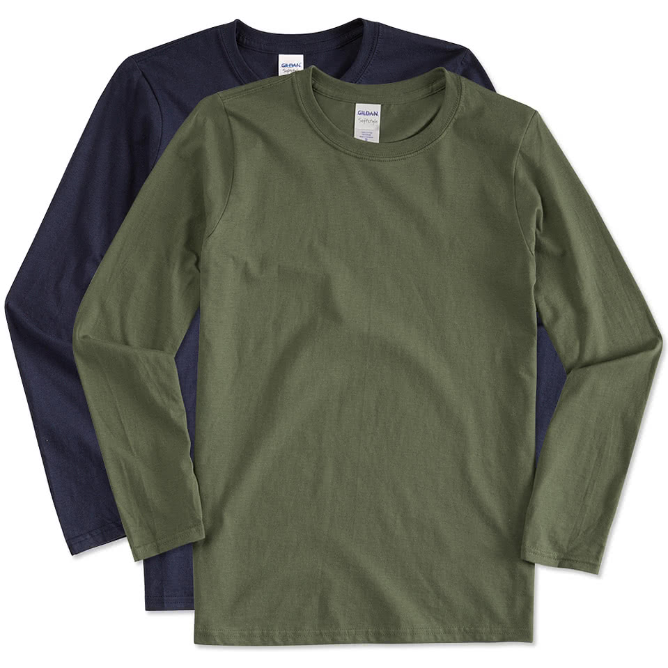Custom gildan softstyle long sleeve jersey t shirt for T shirt with long sleeves