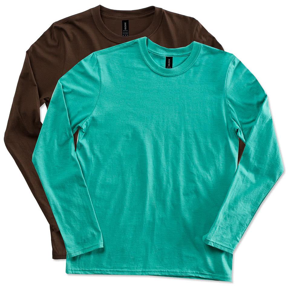 Custom Gildan Softstyle Long Sleeve Jersey T-shirt - Design Long ...