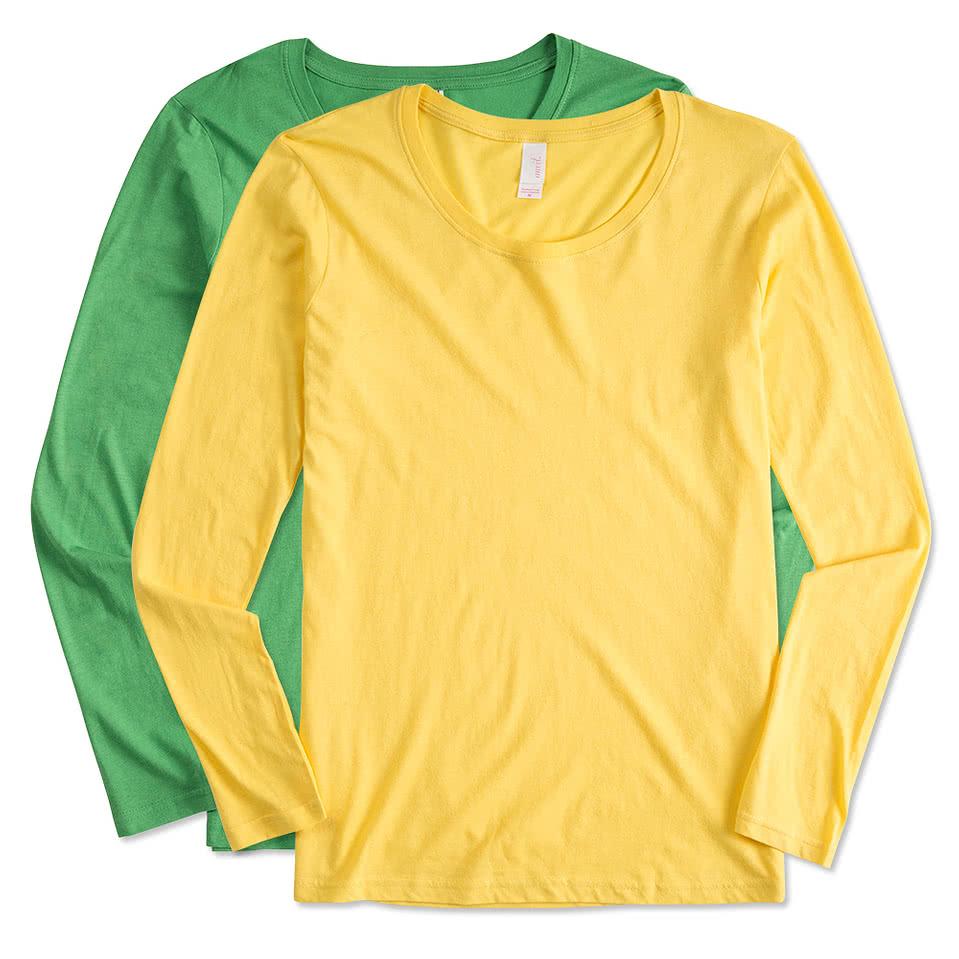 Custom anvil ladies lightweight scoop neck long sleeve t for Ladies long sleeve shirt