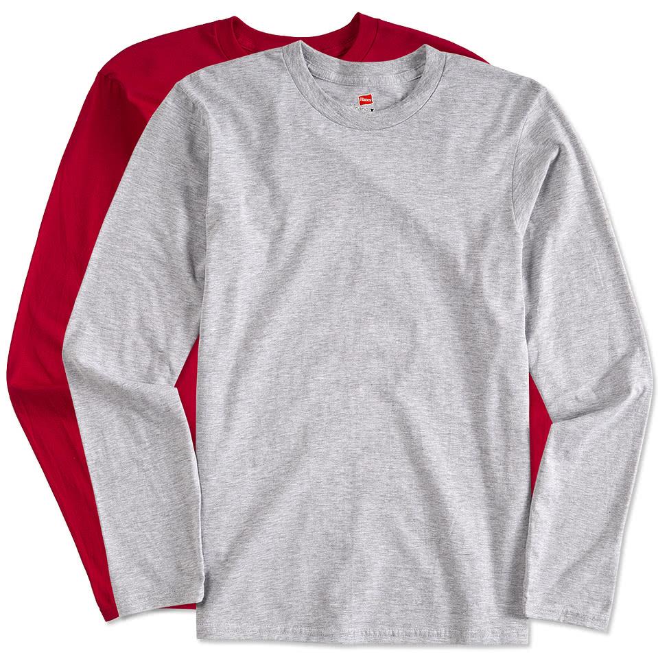 Custom hanes long sleeve nano t design long sleeve t for Long sleeve t shirts design