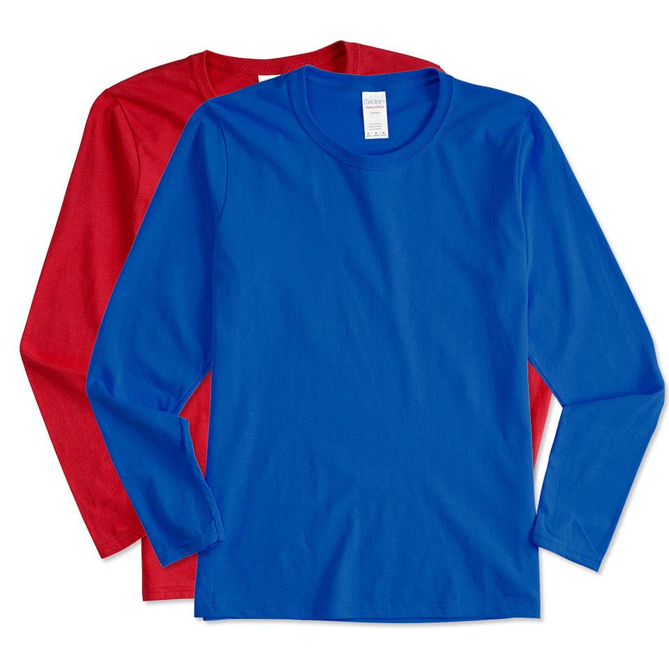 Canada - Gildan Ladies 100% Cotton Long Sleeve T-shirt