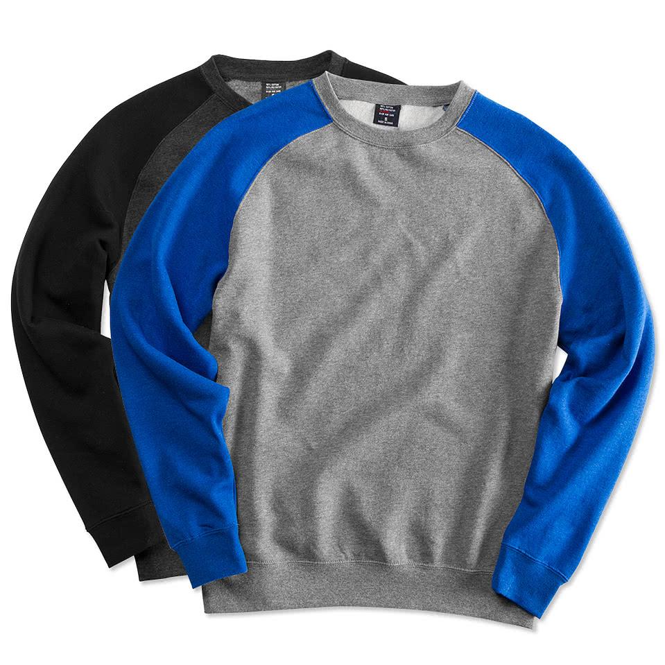 Design your own ems t-shirt - Independent Trading Heather Raglan Crewneck Sweatshirt