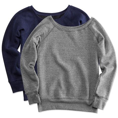 Bella + Canvas Juniors Tri-Blend Wide Neck Sweatshirt