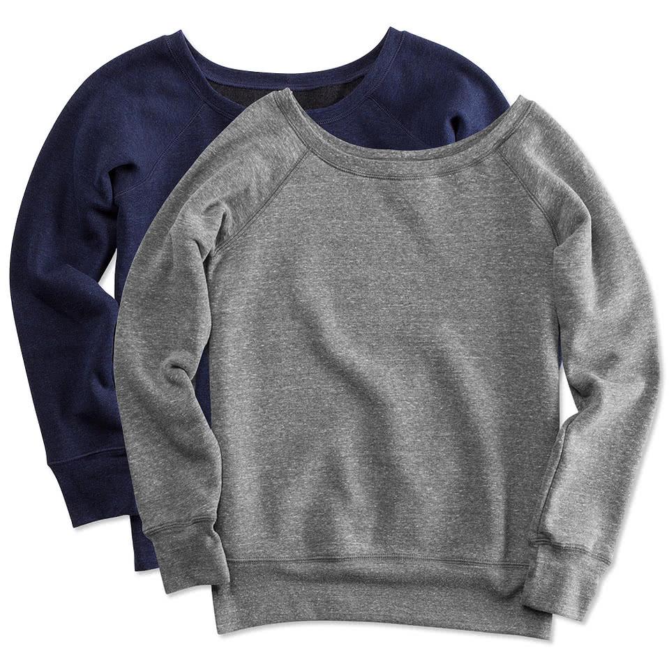 Canada - Bella Juniors Tri-Blend Wideneck Sweatshirt
