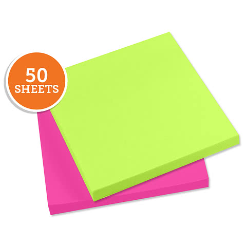 "Neon - 3M Post-It Notes- 2.75"" x 3"" - 50 sheets/pad"