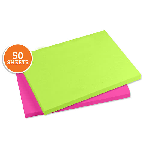 "Neon - 3M Post-It Notes- 4"" x 3"" - 50 sheets/pad"