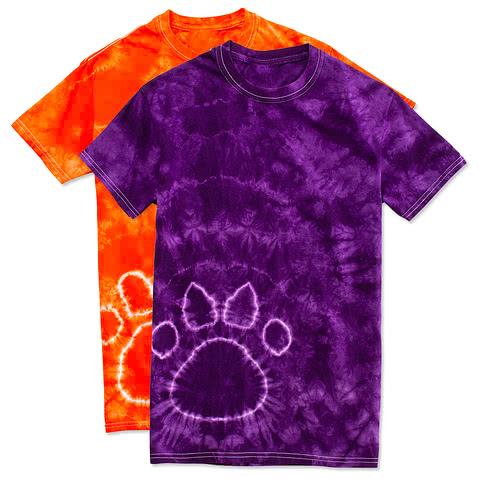 Dyenomite Paw Print Tie-Dye T-shirt