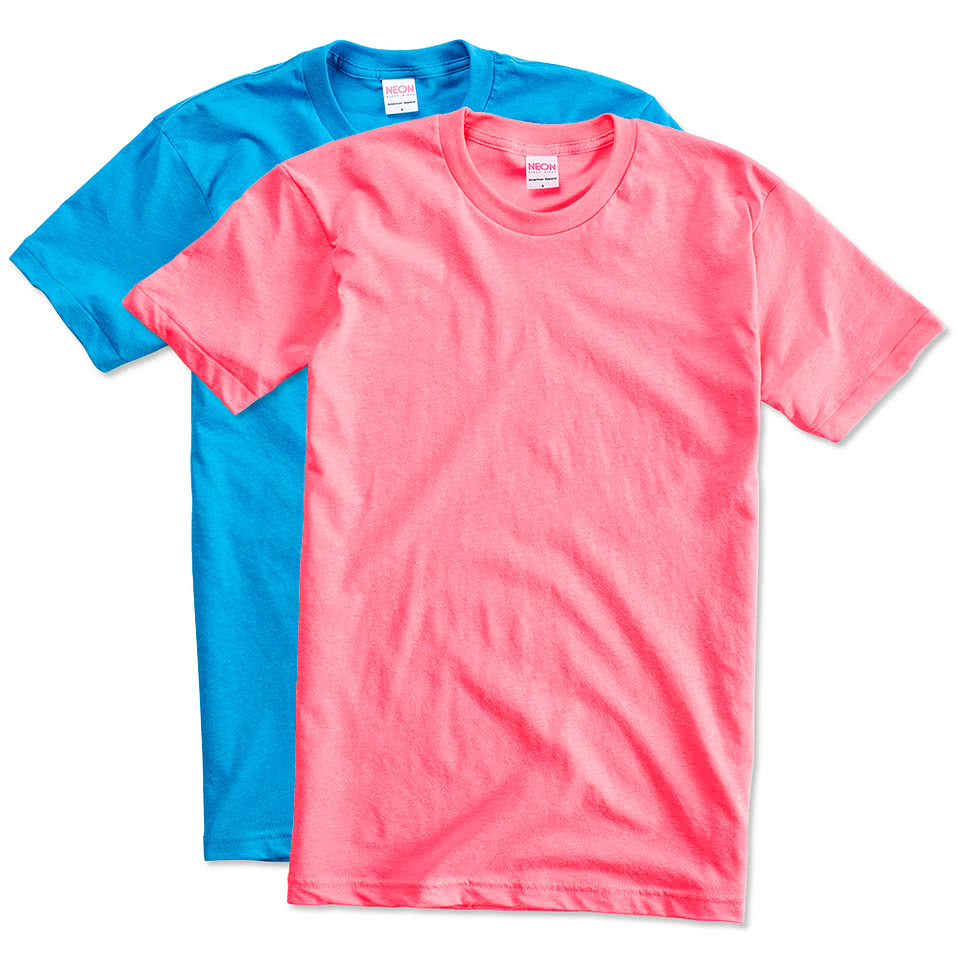American apparel neon 50 50 t shirt design short sleeve t shirts