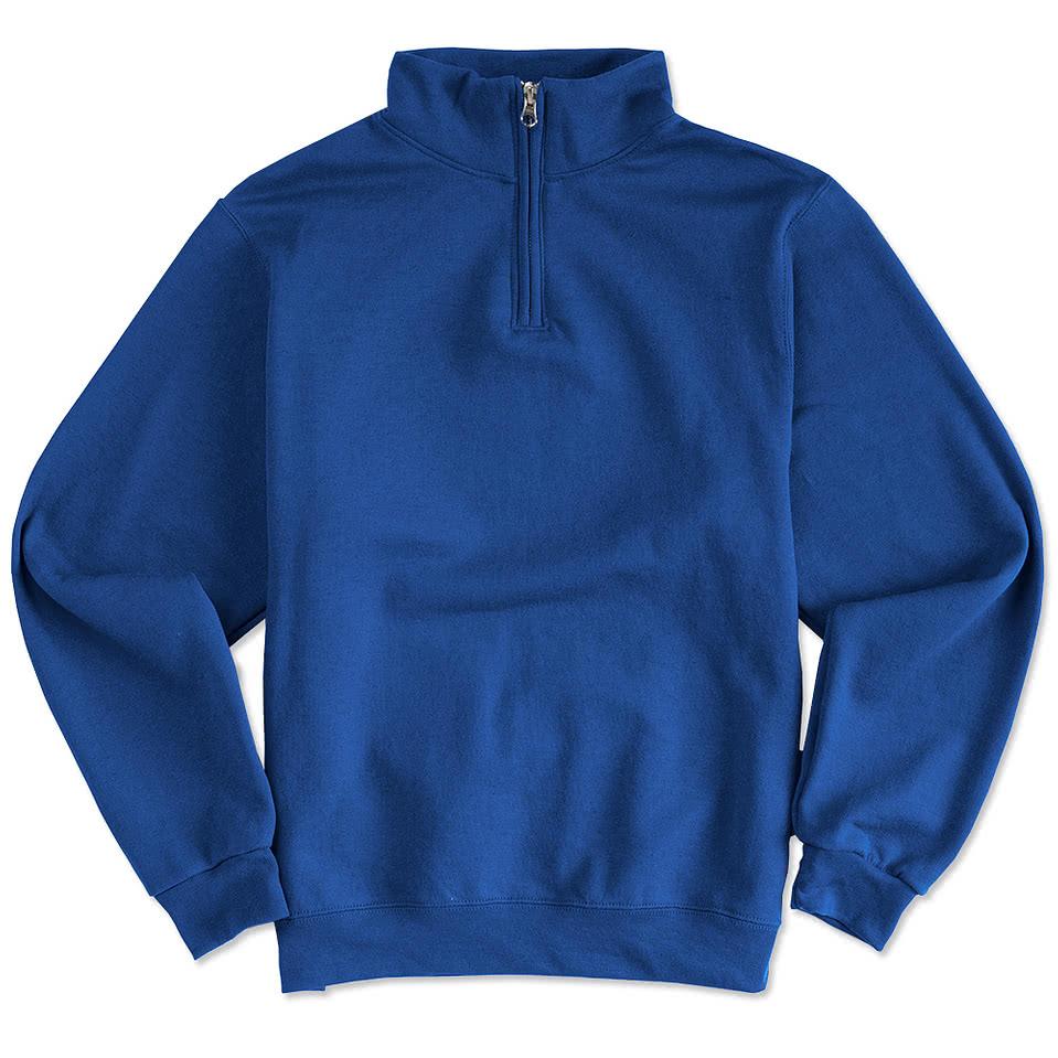 custom half zip pullover sweatshirt
