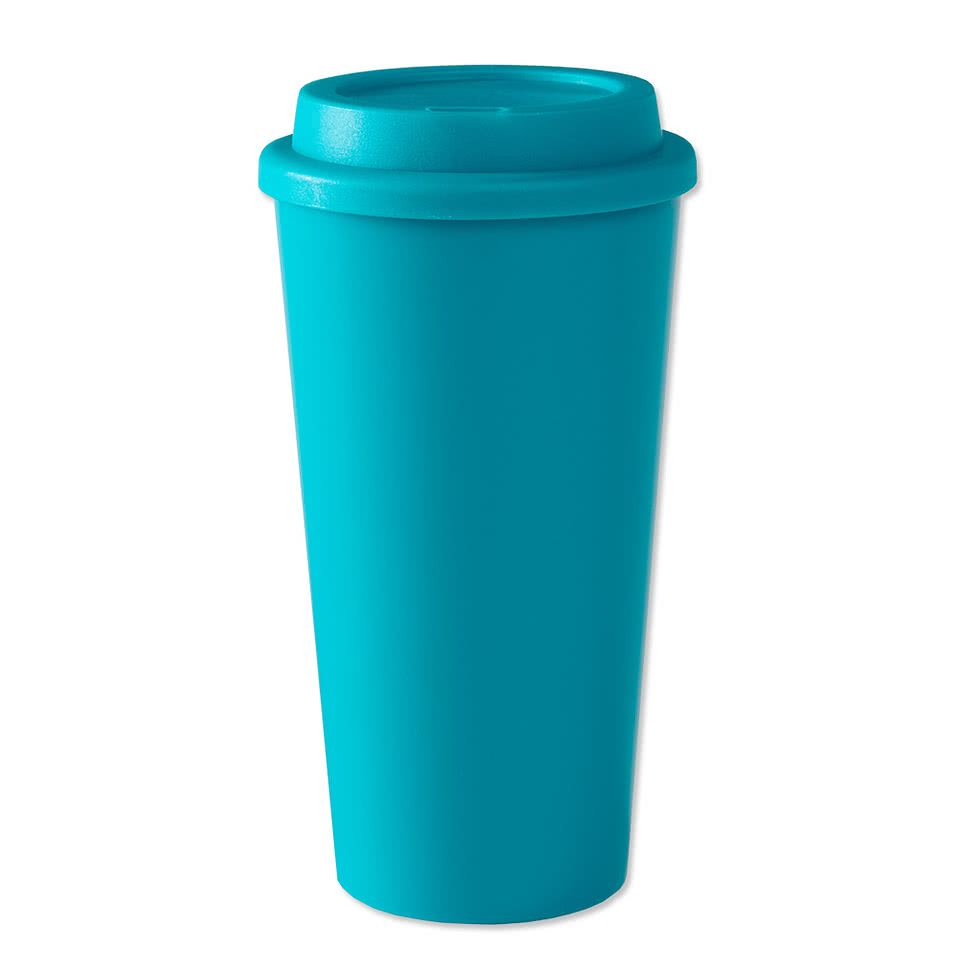 Design Custom Printed 16 Oz Plastic Java Travel Mugs