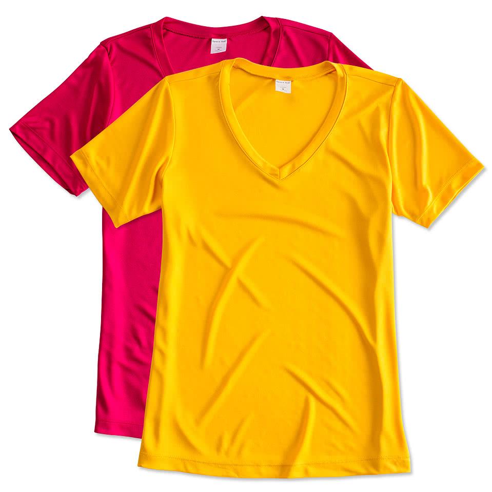 Design your own t-shirt miami - Sport Tek Ladies Competitor V Neck Performance Shirt