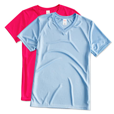 Hanes Ladies Cool Dri V-Neck Performance Shirt