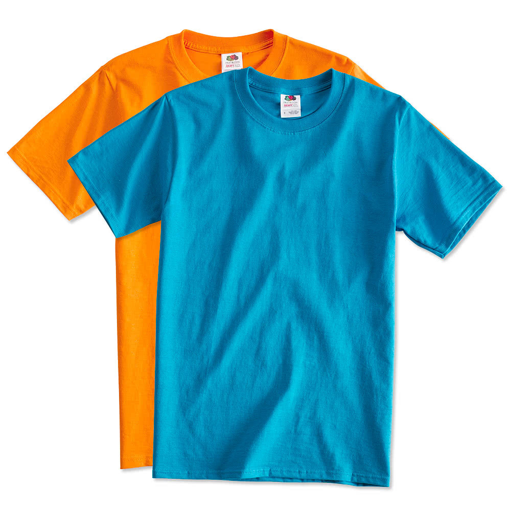 Custom fruit of the loom lightweight 100 cotton t shirt for Make your own t shirt cheap online