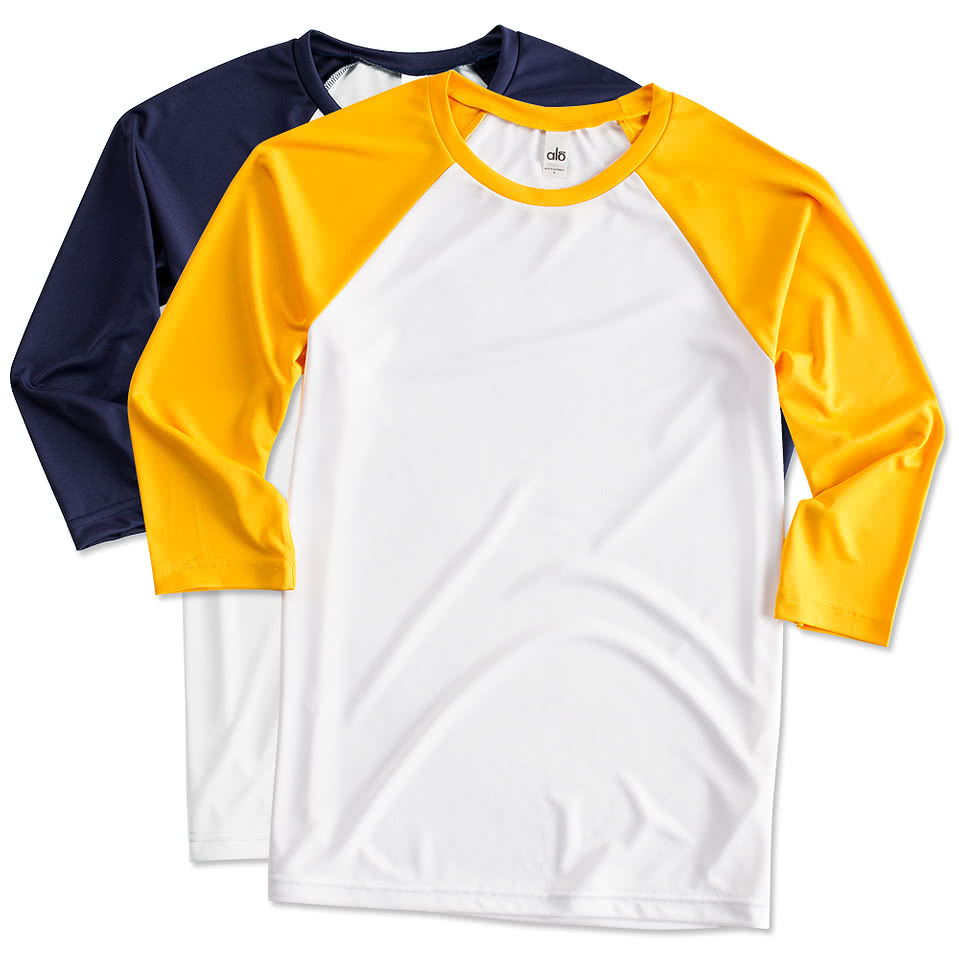 47a85e6c 3/4 Sleeve T-shirts - Design Custom 3/4 Sleeve T-shirts Online