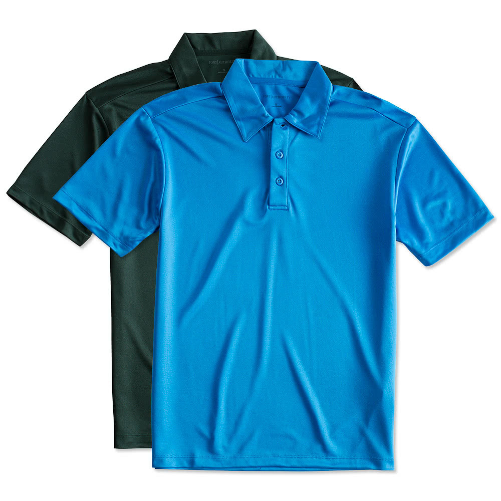 Custom port authority silk touch performance polo design for Youth performance polo shirts