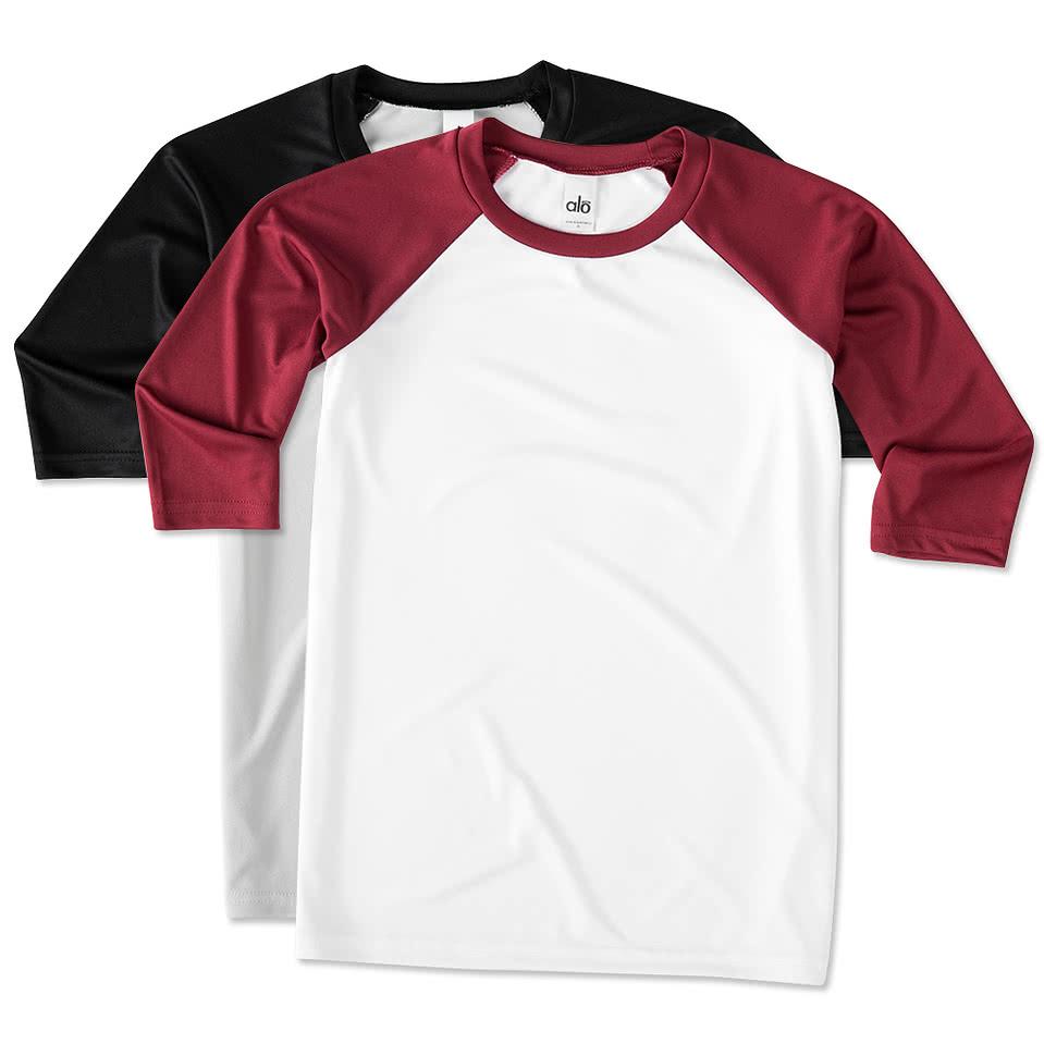 Design your own t-shirt miami - All Sport Youth Performance Baseball Raglan