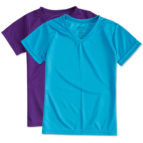 Augusta Youth Girls V-Neck Performance Shirt
