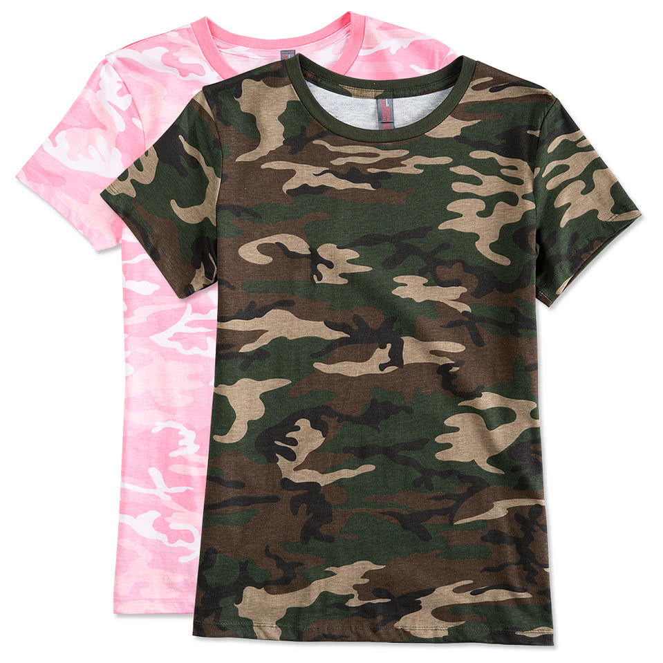 District Made Ladies Camo T Shirt Part 61