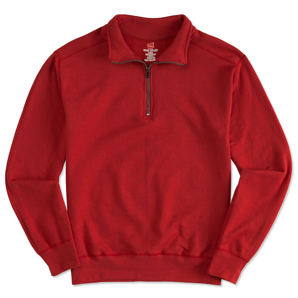 Custom Hanes Nano Quarter Zip Sweatshirt - Design Quarter Zip ...