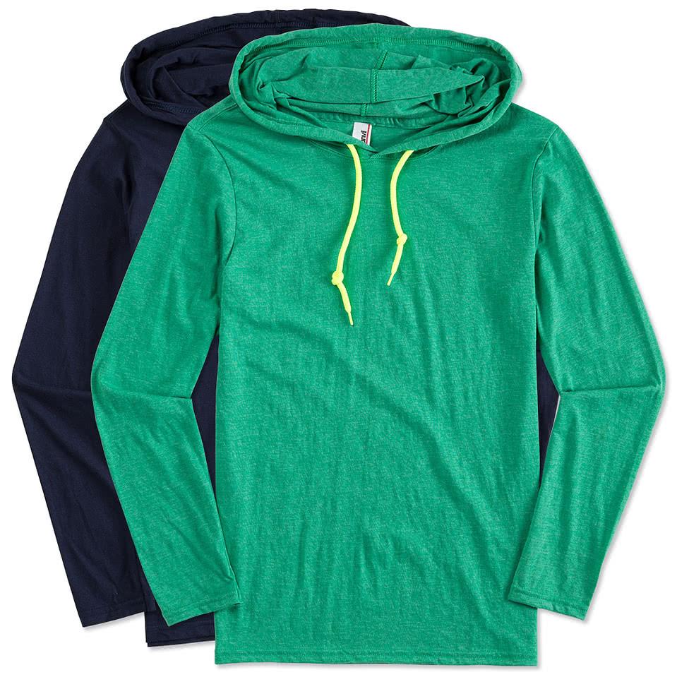 Custom Anvil Long Sleeve Hoodie Design Long Sleeves