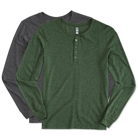 District 50/50 Long Sleeve Henley