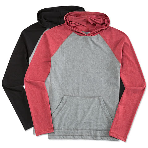 District Raglan Hooded Long Sleeve T-shirt