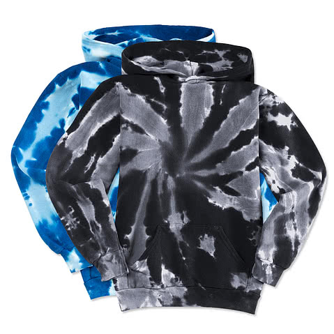 Port and Company Youth Tie-Dye Hooded Sweatshirt