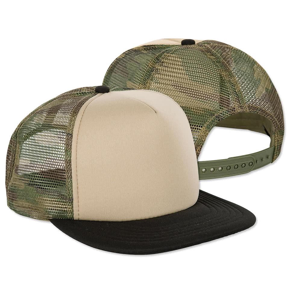 District Camo Flat Bill Snapback Hat