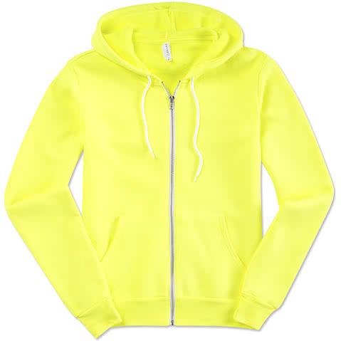 Canvas Neon Zip Hoodie