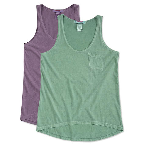 Authentic Pigment Ladies Flowy Pocket Tank