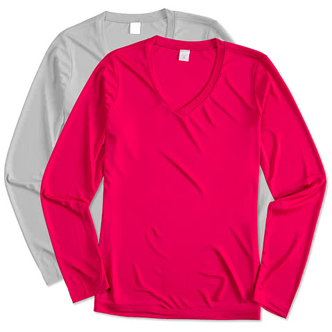 Sport-Tek Ladies Long Sleeve V-Neck Competitor Shirt