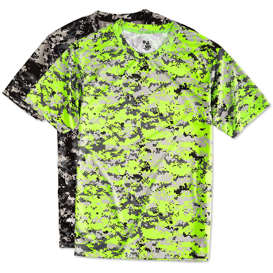 Custom badger digital camo performance shirt design for Camouflage t shirt design