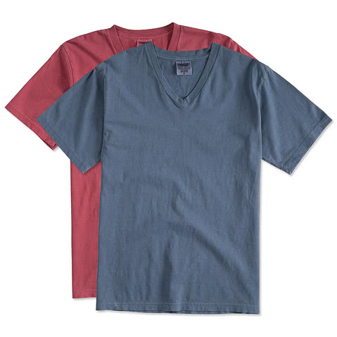 Comfort Colors 100% Cotton V-Neck T-shirt