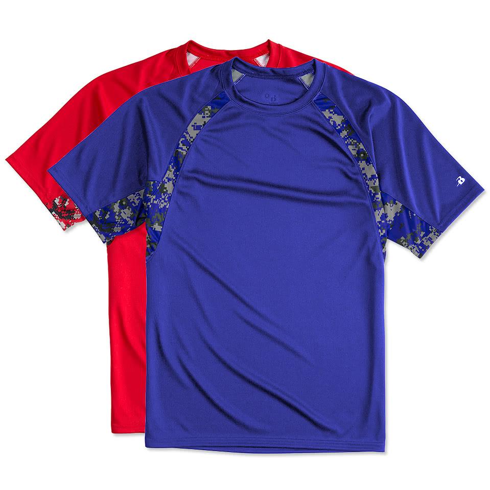 Shirt design your own - Badger Digital Camo Contrast Performance Shirt