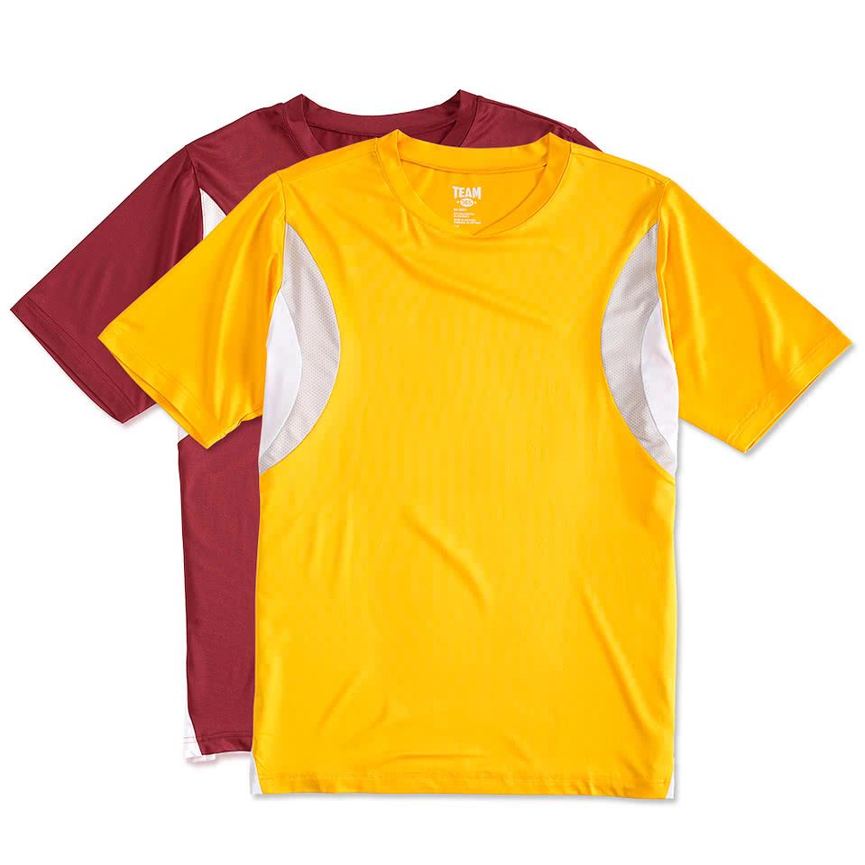 Shirt design columbus ga - Team 365 Colorblock Performance Jersey