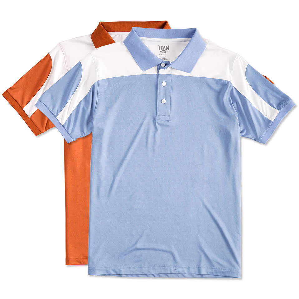 Design your own t-shirt for under $10 - Team 365 Colorblock Performance Polo