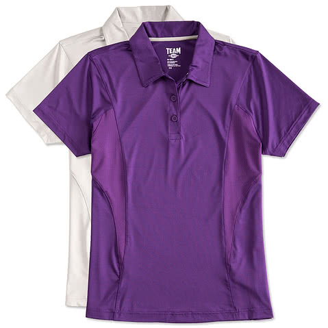 Team 365 Ladies Mesh Contrast Performance Polo