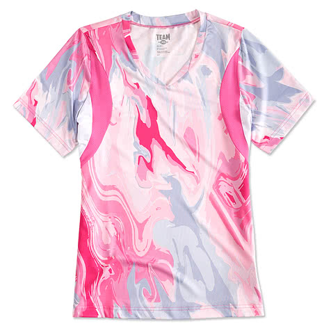 Team 365 Ladies Pink Swirl Performance Jersey