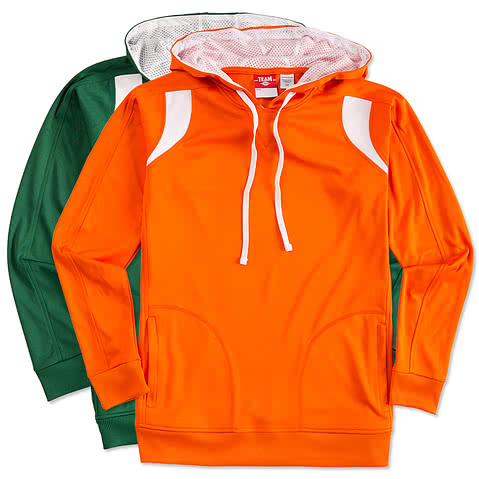 Team 365 Contrast Performance Hooded Sweatshirt
