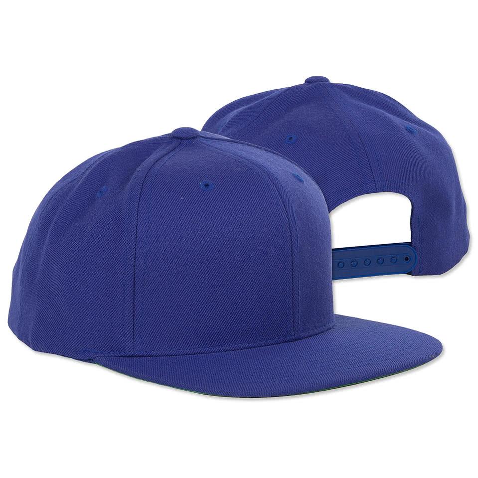 custom yupoong flat bill snapback hat design baseball