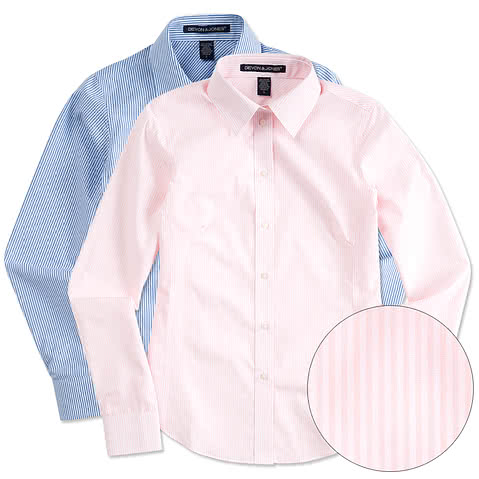 Devon & Jones Ladies Banker Stripe Dress Shirt