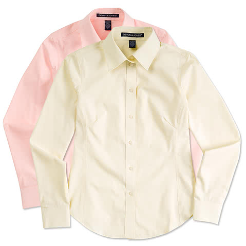 Devon & Jones Ladies Solid Dress Shirt