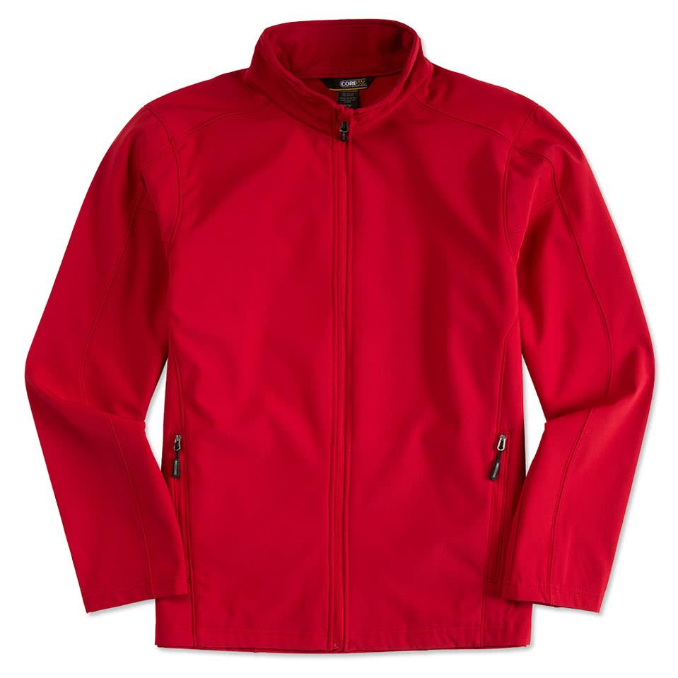 UNISEX CUSTOM Red and White Track Jacket- Poly Active Jacket Unisex- Customize Your Own Track Jacket- Red with White Stripes- Custom agwbqD3dBi