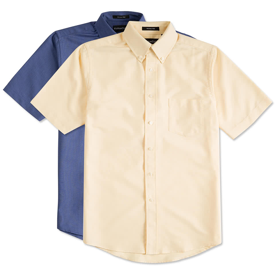 Custom ultra club short sleeve wrinkle free oxford dress for Online custom tailored shirts