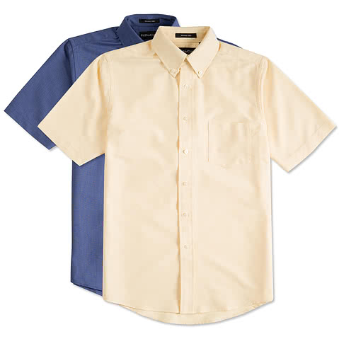 Ultra Club Short Sleeve Wrinkle-Free Oxford Dress Shirt