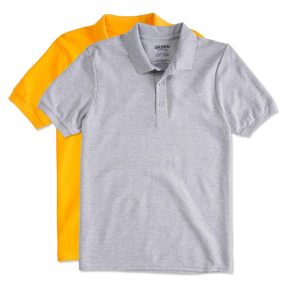 Design your own t shirt virtual - Gildan Double Pique Polo