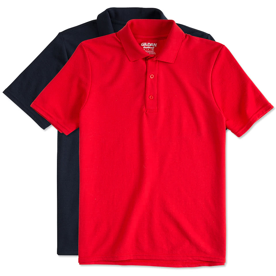 Custom gildan dryblend double pique polo design for Custom logo t shirts no minimum