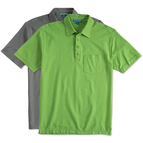 Port Authority Stain Resistant Pocket Polo