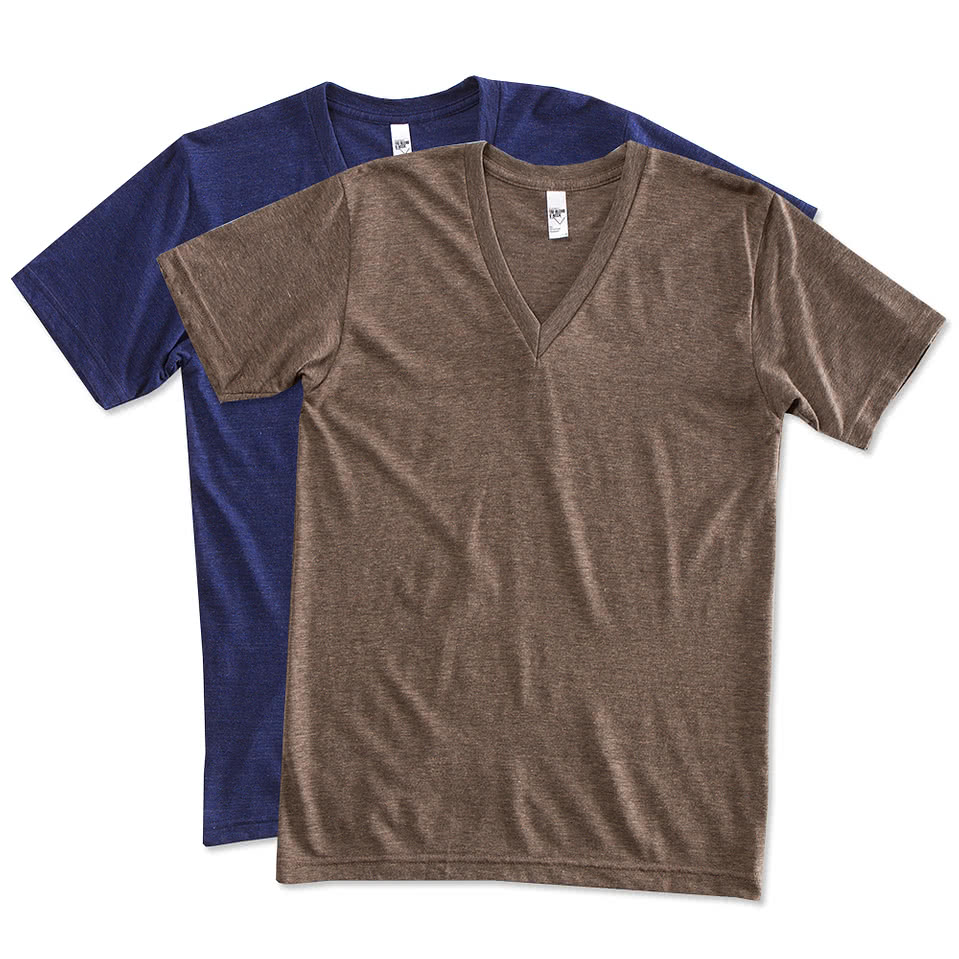 Custom canada american apparel tri blend v neck t shirt for Custom polo shirts canada